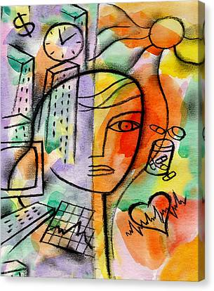 Illness,  Drags And Health  Canvas Print by Leon Zernitsky