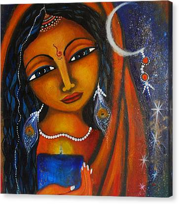 Canvas Print featuring the painting Illuminate by Prerna Poojara
