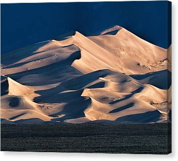 Illuminated Sand Dunes Canvas Print