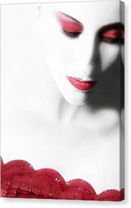 Illumination - Self Portrait Canvas Print by Jaeda DeWalt