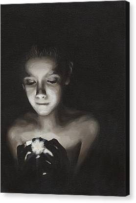 Black-and-white Canvas Print - Illumination by Katherine Huck Fernie Howard