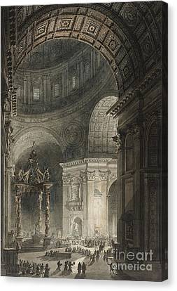 Illumination Of The Cross In St. Peter's On Good Friday, 1787 Canvas Print
