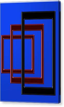 Digital Installation Art Canvas Print - Illusion 1 by Tina M Wenger