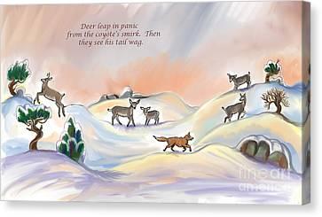 Illustrated Haiku 3 - Age 17 Canvas Print