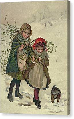 Illustration From Christmas Tree Fairy Canvas Print by Lizzie Mack