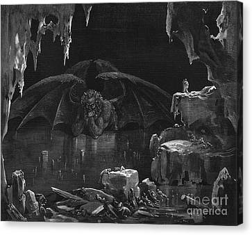 Illustration From The Divine Comedy Canvas Print by Gustave Dore