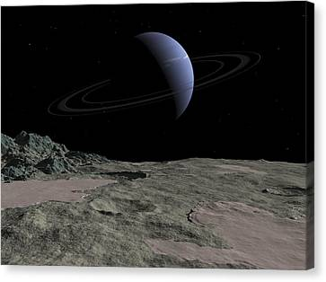 Vista Canvas Print - Illustration Of The Gas Giant Neptune by Walter Myers
