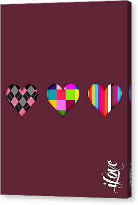 iLove Collection Canvas Print by Marvin Blaine