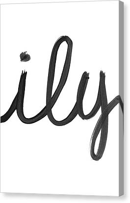 Ily- Art By Linda Woods Canvas Print by Linda Woods