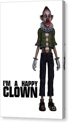 I'm A Happy Clown Canvas Print by Esoterica Art Agency