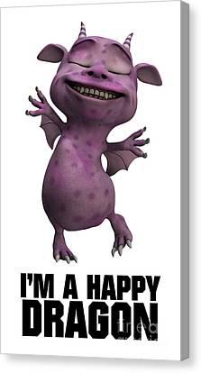 I'm A Happy Dragon Canvas Print