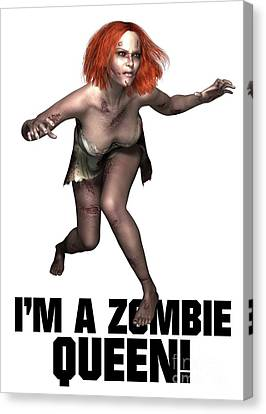 I'm A Zombie Queen Canvas Print by Esoterica Art Agency