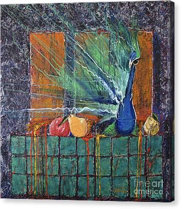 I'm Just A Pear Canvas Print by Debi Bond