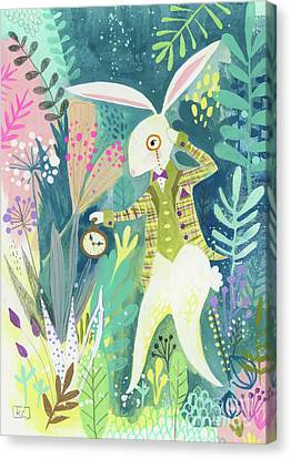I'm Late Canvas Print by Kate Cosgrove