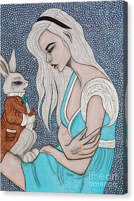 I'm Late Canvas Print by Natalie Briney