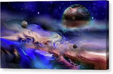 Exoplanet Canvas Print by Natalia  Rudzina
