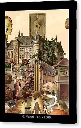 Imaginary Postcard  3 Canvas Print by Mandi Blais