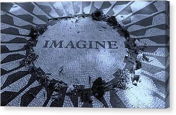 Imagine 2015 Cyan Canvas Print by Rob Hans