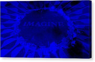 Imagine 2015 Negative Blue Canvas Print by Rob Hans