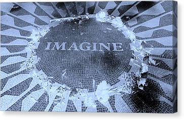 Imagine 2015 Negative Cyan Canvas Print by Rob Hans