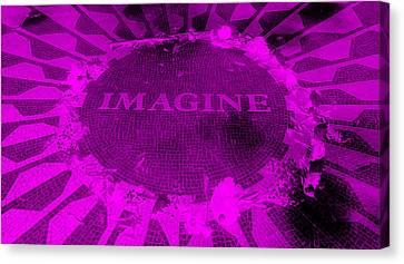 Imagine 2015 Negative Purple Canvas Print by Rob Hans