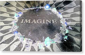 Imagine 2015 Negative Canvas Print by Rob Hans