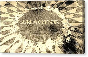 Imagine 2015 Negative Sepia Canvas Print by Rob Hans