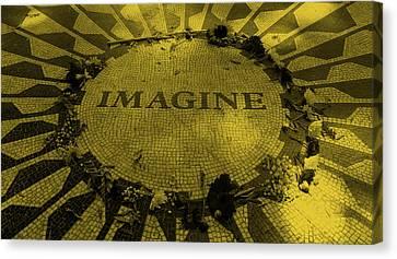 Imagine 2015 Orange Canvas Print by Rob Hans