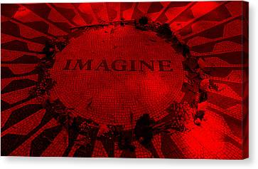 Imagine 2015 Red Canvas Print by Rob Hans