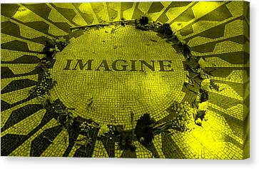 Imagine 2015 Yellow Canvas Print by Rob Hans