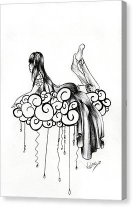 Imagine A Cloud Canvas Print by Vicki Chapman