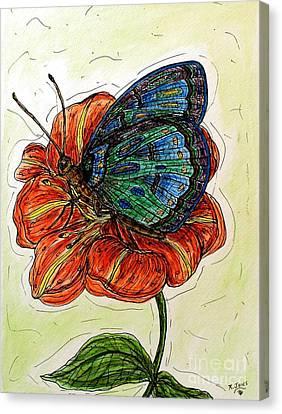 Imagine Butterflies A Canvas Print