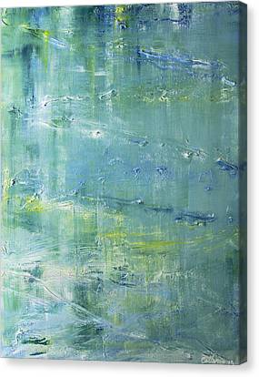 Canvas Print featuring the painting Imagine by Dolores  Deal