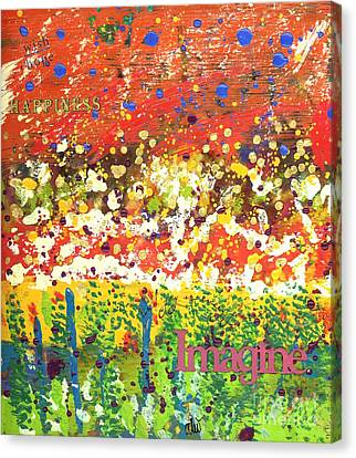 Imagine Happiness Canvas Print by Angela L Walker