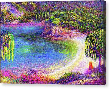 Contemplation Canvas Print - Imagine, Meditating In Beautiful Bay,seascape by Jane Small