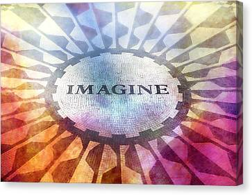 Imagine Sign Canvas Print
