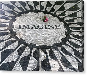 Imagine Tribute To John Lennon Canvas Print