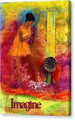 Imagine Winning Canvas Print by Angela L Walker