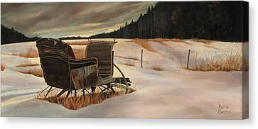 Imaginery Sleigh Ride Canvas Print by Keith Gantos