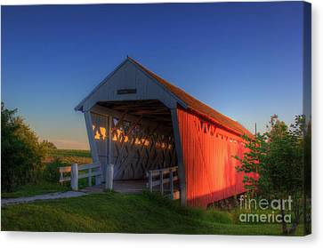 Imes Covered Bridge Canvas Print by Thomas Danilovich
