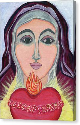 Immaculate Heart Of Mary Canvas Print by Danielle Tayabas