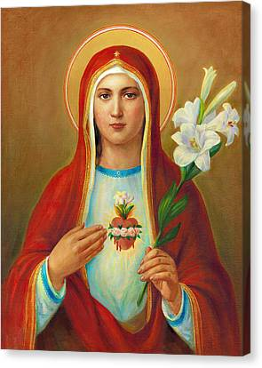 Immaculate Heart Of Mary Canvas Print by Svitozar Nenyuk