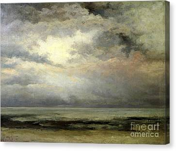 Thunder Canvas Print - Immensity by Gustave Courbet