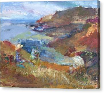 Immersed In The Landscape Painters At Rocky Creek, Quin Sweetman Canvas Print