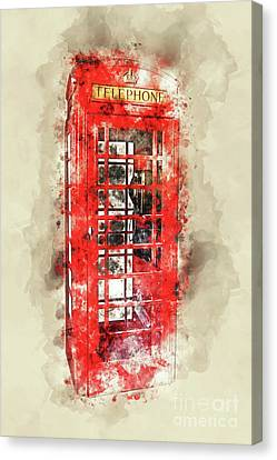 Londoners Canvas Print - Immobile Phone by Delphimages Photo Creations