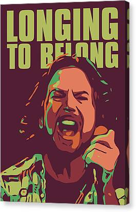 Pearl Jam Canvas Print - Eddie Vedder by Greatom London