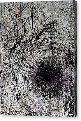 Canvas Print featuring the mixed media Impact by Tony Rubino
