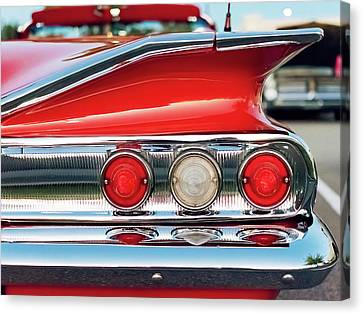 Impala Ss Convertible Canvas Print by Jon Woodhams