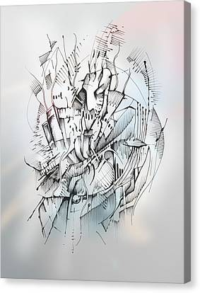 Canvas Print featuring the drawing Impel by Keith A Link