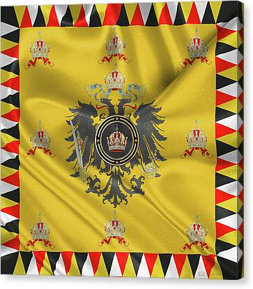 Imperial Crown Of Austria Over Standard Of The Emperor Canvas Print by Serge Averbukh